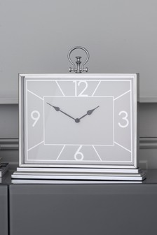 Chrome Mantle Clock