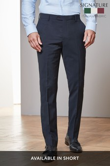 Navy Tailored Fit Signature Suit: Trousers
