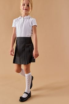 Grey Embroidered Pleat Skirt (3-16yrs)