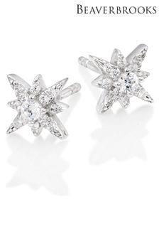 Beaverbrooks Cubic Zirconia Star Stud Earrings