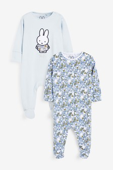 Lilac 2 Pack Miffy Sleepsuits (0mths-2yrs)