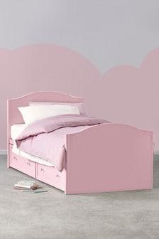 Pink Amelia Storage Single Bed