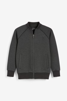 Grey Textured Jersey Jacket (3-16yrs)