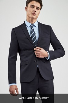 Navy Super Skinny Fit Stretch Tonic Suit: Jacket