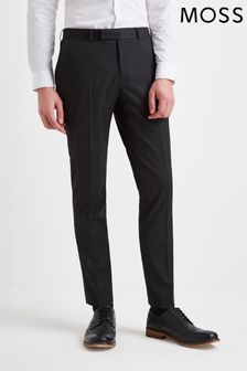 Moss London Skinny Fit Charcoal Stretch Trouser