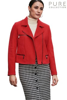 Pure Collection Red Biker Jacket
