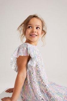 Rainbow Sequin Dress (3-16yrs)
