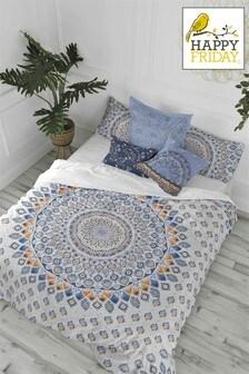 Happy Friday Salina Duvet Cover and Pillowcase Set