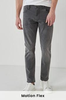 Dark Grey Slim Fit Motion Flex Stretch Jeans