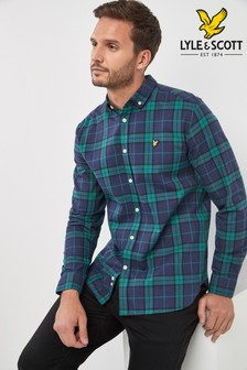 Green  Lyle & Scott Check Flannel Shirt