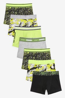 Mono/Fluro 7 Pack Camoflage Trunks (2-16yrs)