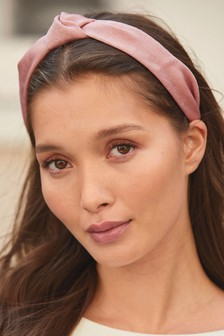Pink Satin Structured Headband