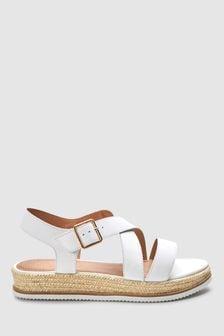 White Forever Comfort® Flatform Sandals