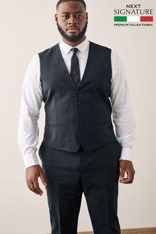 Black Signature Suit: Waistcoat