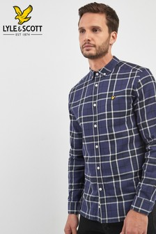 Navy  Lyle & Scott Check Flannel Shirt