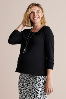 Black Maternity Long Sleeve Top