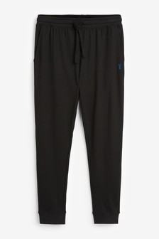 Black Slim Cuffed Joggers Lightweight Loungewear