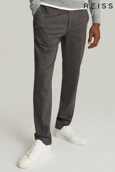 Reiss Grey Flexo Slim Fit Jersey Stretch Trousers