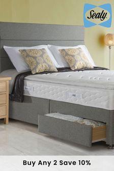 Comfort Pillow Top Mattress, Divan And Headboard By Sealy