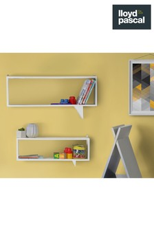 Set Of 2 Speech Bubble Shelves By Lloyd Pascal