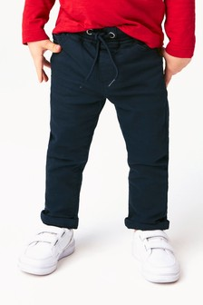 Navy Pull-On Jersey Trousers (3mths-7yrs)