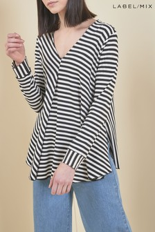 Next/Mix Stripe Drape Tunic