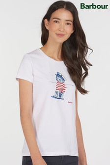 Barbour® Coastal White Sailer Dog Southport T-Shirt