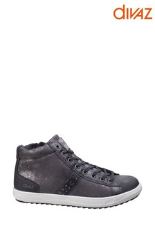 Divaz Grey Steffy Metallic Sneaker Boots