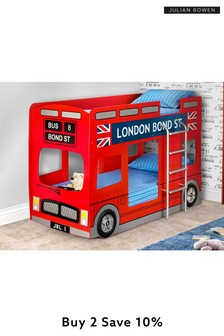 London Bus Bunk Bed By Julian Bowen