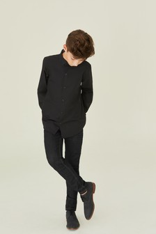 Black Long Sleeve Smart Shirt (3-16yrs)