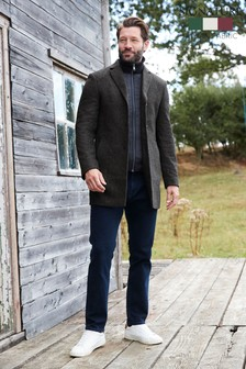 Charcoal Zip Epsom Coat