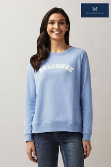 Crew Clothing Company Blue Graphic Salcombe Sweatshirt