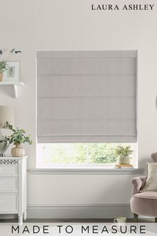 Laura Ashley Swanson Dove Grey Made to Measure Roman Blind
