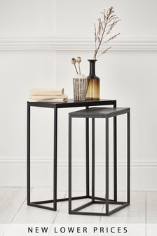 Black Jefferson Nest Of 2 Tables