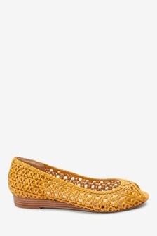next Damen Peep Toe Schuhe mit Keilabsatz aus Kork