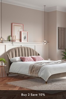 Opulent Velvet Natural Stella Bed