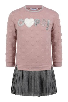 Girls Pink & Grey Oops! Dress