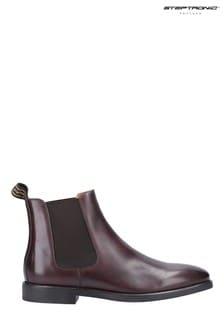 Steptronic Brown Mayfair Slip-On Chelsea Boots