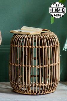 Small Rattan Side Table By Hudson Living