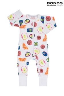 Bonds Fruit Sticker Fun White Zip Wondersuit