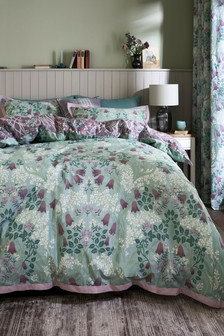 Hadley Mirror Floral Duvet Cover and Pillowcase Set