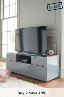 Grey Sloane Wide TV Stand