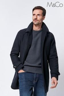 M&Co Men Blue Shirt Collar Overcoat
