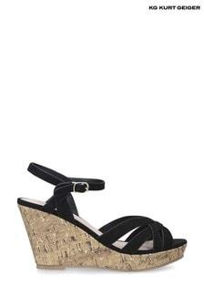 KG Kurt Geiger Black Parisian Sandals