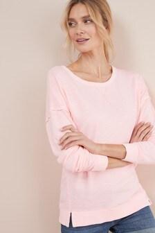 Fluro Pink Tie Back Sweatshirt ... 711216c1b
