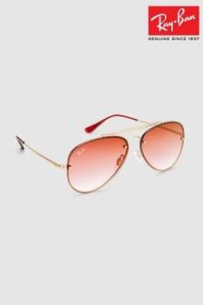 Ray-Ban® Demi Gloss Gold Blaze Aviator Sunglasses