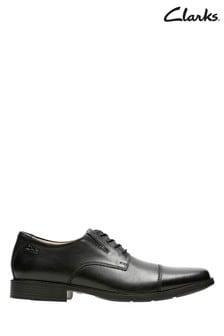 Clarks Black Tilden Cap Shoes
