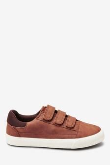Tan Triple Strap Shoes (Older)