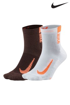 Nike Running Pink Ankle Socks Two Pack