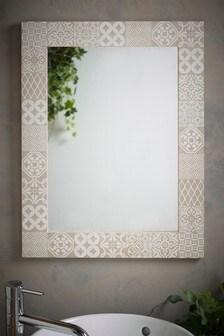 Tile Print Wall Mirror